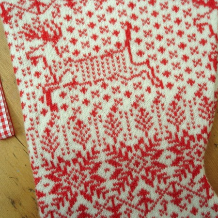 reindeer and snowflake design