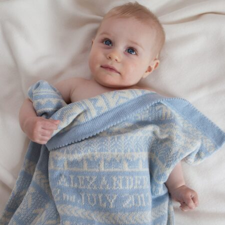 personalised baby gift - cashmere blanket