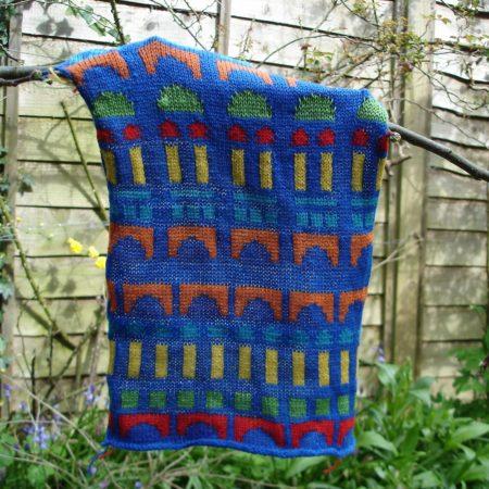 new baby blanket design - building blocks swatch
